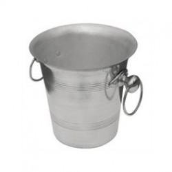 Wijnkoeler met Handgrepen | Hoogglans Aluminium | Ø 20 cm.
